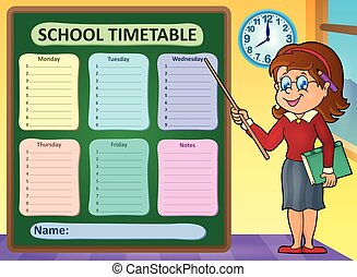 horaire, école, hebdomadaire
