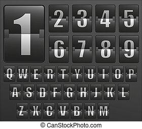 horaire, alphabet