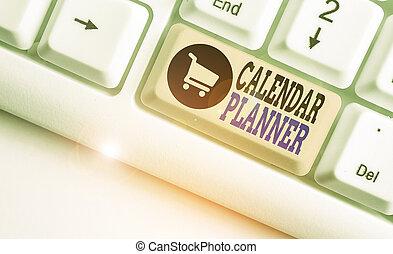 horaire, completed., conceptuel, projection, calendrier, activités, tâche, texte, devoir, planner., photo, être, ou, signe
