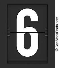 horaire, mécanique, planche, numéro 6