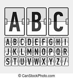 horario, alfabeto, mecánico