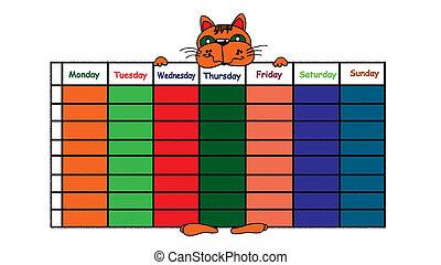 horario de la clase
