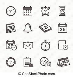 horario, iconos tiempo