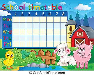 horario, topic, escuela, 1, imagen