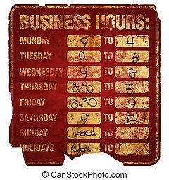 horas, degraded, negócio