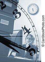 horas, empresa / negocio