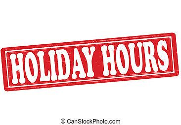 horas, feriado