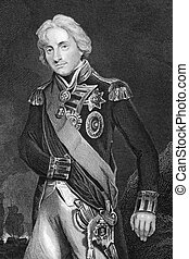 Horatio Nelson, 1st Viscount Nelson (1758-1805) on engraving...