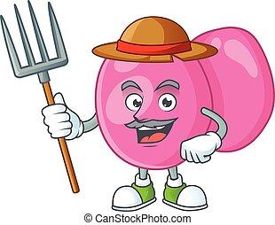 horca, sombrero, streptococcus, diseño, granjero, mascota, ...