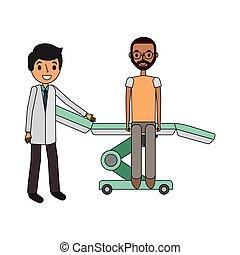 hordágy, türelmes, orvos