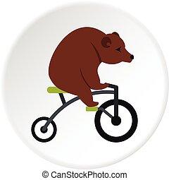 hord, bicikli, ikon, karika