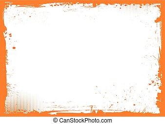 horisontal, apelsin, och, svart, halloween, bakgrund, grunge, gräns