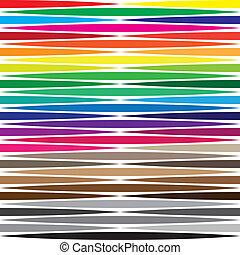 horisontal, kariert, zeigen, farbe, abstrakt, formen, swatches, hintergrund