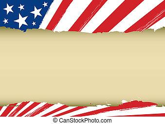 horisontale, drøm, flag