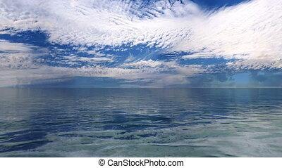 3D CG rendering of horizon and sea.
