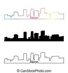 horizon, arc-en-ciel, style, akron, linéaire