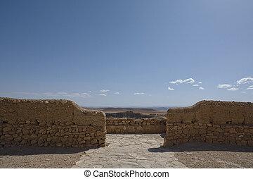 Horizon between the walls