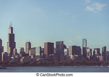 horizon, chicago, usa, illinois