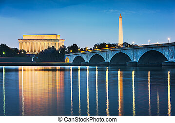 horizon, dc, washington, usa, rivière