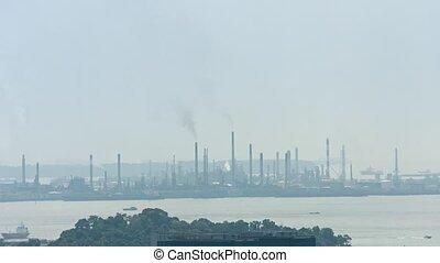 horizon industriel, usines, moulins