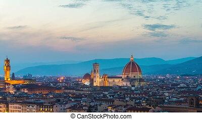horizon, italie, temps, levers de soleil, florence, ...