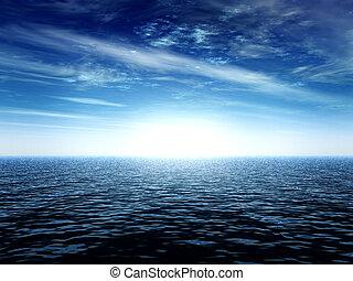 horizon, lumière