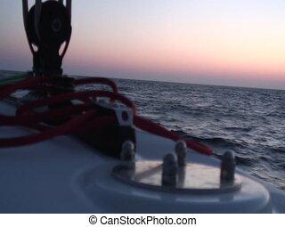 Horizon on sea - Horizon sunset filmed from a boat