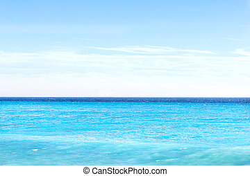 Horizon on the blue sea
