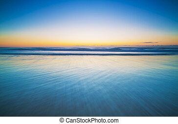 Horizon Over A Blue, Calm Ocean