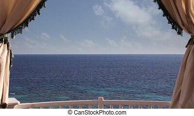 Horizon over water - Serene Seascape Sharm El Sheikh Beach,...