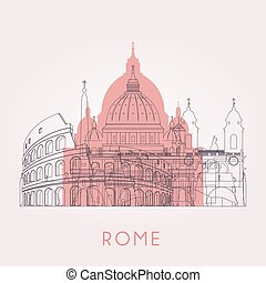 horizon, rome, contour