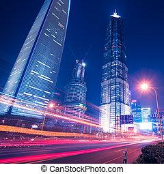 horizon, shanghai, nuit