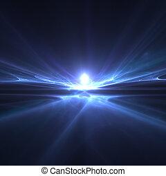 horizon - An illustration of an abstract fractal horizon