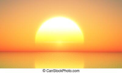 horizon and sun