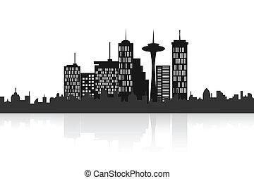 horizon urbain, ville
