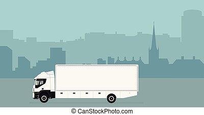 horizon ville, camion