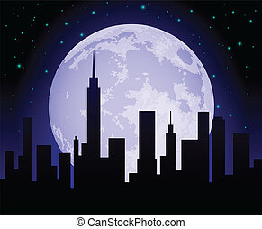 horizon ville, nuit