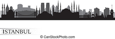 horizon ville, silhouette, istanbul