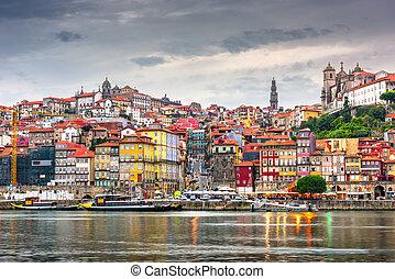 horizon ville, vieux, porto, portugal