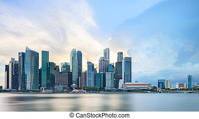 horizon, vue, central, singapour