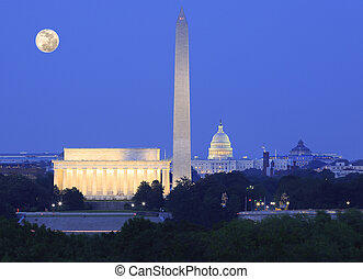 horizon, washington dc, nuit