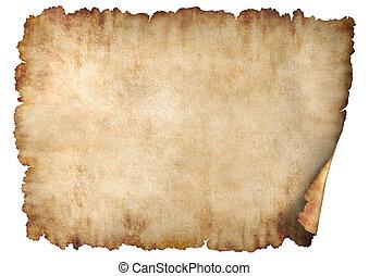 horizontális, 2, pergament