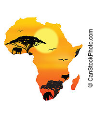 horizont in Africa background