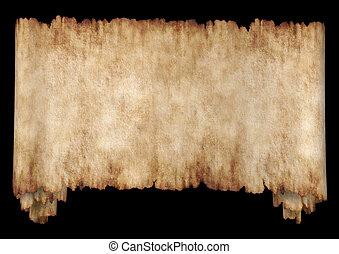horizontaal, 2, black , manuscript