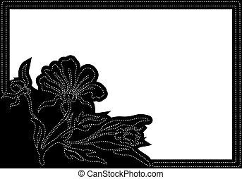 horizontaal, black , frame
