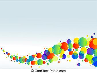 horizontaal, kleurrijke, achtergrond