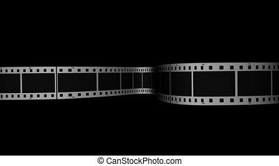 horizontaal, wikkeling, film