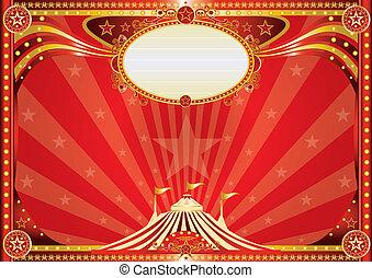 horizontais, circo, experiência vermelha