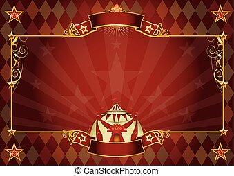 horizontais, circo, fundo, rhombus