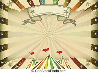 horizontais, circo, multicolor